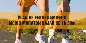 Plan de entrenamiento medio maratón para bajar de 1h30min